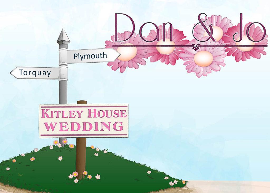 Rustic Invitation cover for Dan and Jo